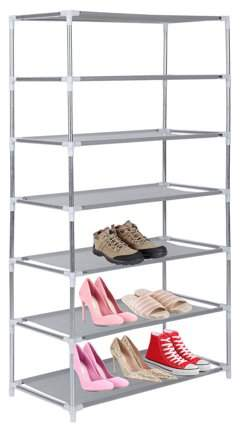 Generic Metal Shoes Rack 3/4/5/6/7/10 Layer Shoes Stand Removable Dust-Shelves Storage Organizer Fabric Shelf Holder Stackable Closet