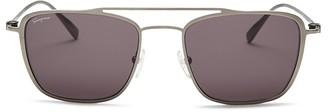 Salvatore Ferragamo Gancini Navigator Sunglasses, 54mm $370 thestylecure.com