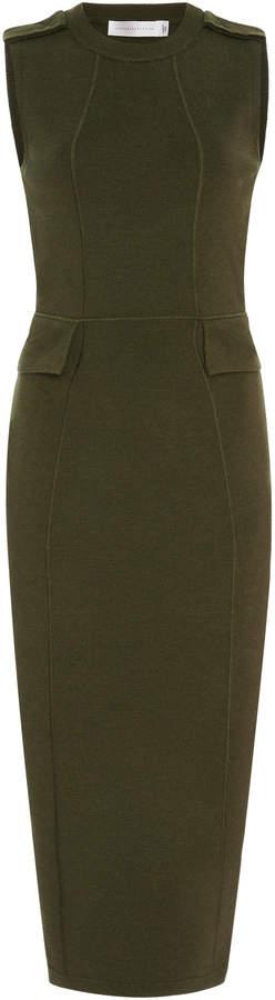 Victoria Beckham Brushed Wool-Blend Midi Dress