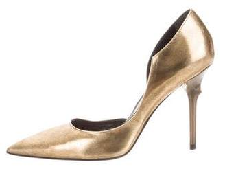 Roger Vivier Leather Pointed-Toe Pumps