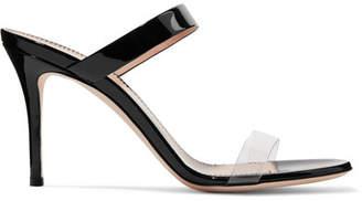 Giuseppe Zanotti Ali 90 Patent-leather And Perspex Sandals - Black