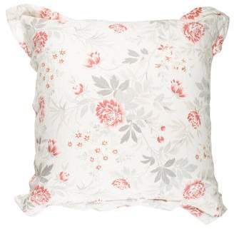 Home Linen Floral Throw Pillow
