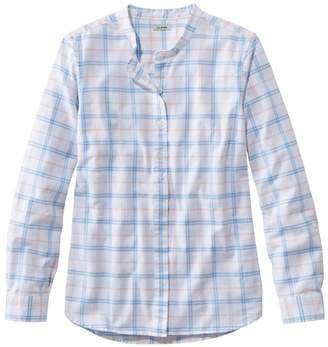 L.L. Bean L.L.Bean Women's LakewashedA Organic Cotton Oxford Shirt, Roll Tab Plaid