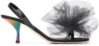 Marco De Vincenzo maxi tulle bow sandals