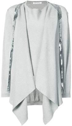 Oscar de la Renta sequin-embellished draped jumper