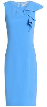 Emilio Pucci Ruffle-Trimmed Stretch-Wool Crepe Dress