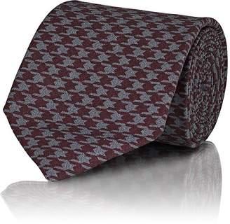 Isaia Men's Houndstooth Silk Necktie