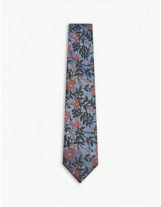 Duchamp Lexi floral silk tie
