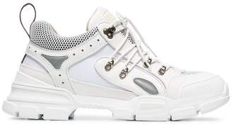 Gucci white flashtrek leather sneakers