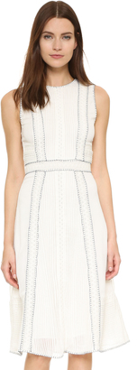 alice + olivia Maelyn Lace Insert Dress $396 thestylecure.com
