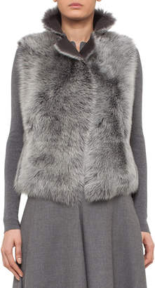 Akris Punto Reversible Toscana Lamb Fur Vest, Cliff