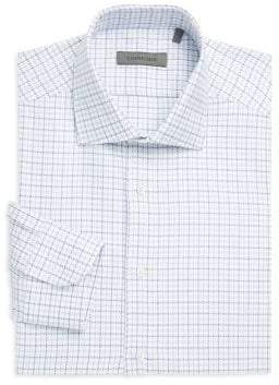 Corneliani Regular Fit Check Dress Shirt