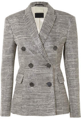 By Malene Birger Zozima Double-breasted Cotton-blend Tweed Blazer - Gray