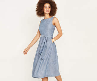 Oasis PIN STRIPE MIDI DRESS