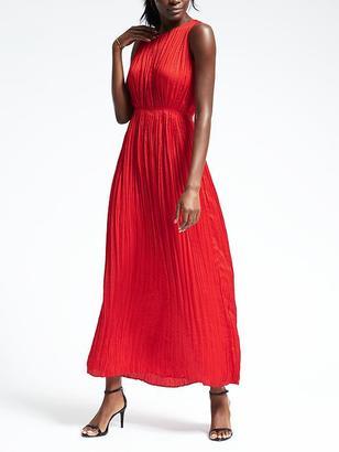 Gathered Pleat Maxi Dress $148 thestylecure.com