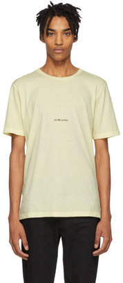Saint Laurent Yellow Rive Gauche Logo T-Shirt