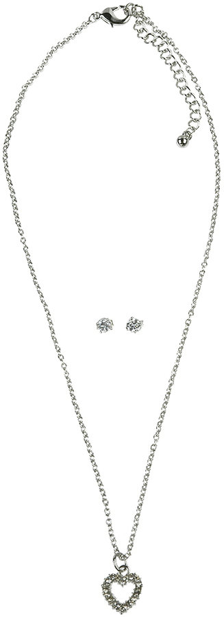 Jeweled Heart Jewelry Set