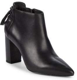 Rachel Zoe Trixie Leather Block Heel Booties