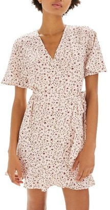 Women's Topshop Daisy Ruffle Wrap Tea Dress $90 thestylecure.com