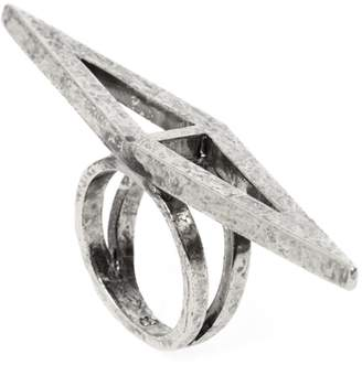 Low Luv x Erin Wasson Silver Cutout Double Triangle Ring