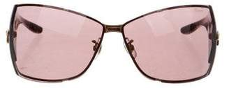 Chopard Logo-Embellished Shield Sunglasses