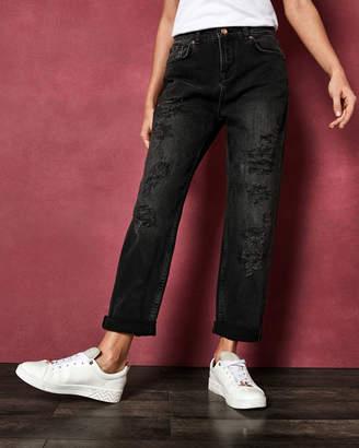 Ted Baker HETTEY Abrasion studded boyfriend jeans