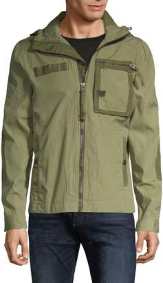 G Star Raw Hooded Cotton-Blend Jacket