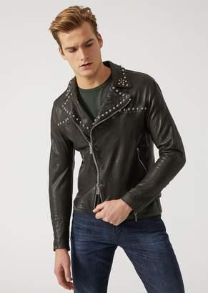 Emporio Armani Leather Biker Jacket