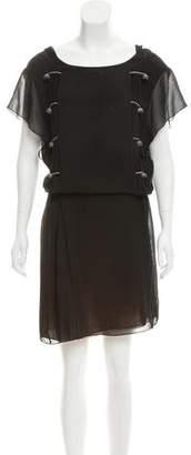Nina Ricci Sleeveless Silk Midi Dress