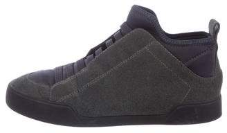 3.1 Phillip Lim Leather & Woven High-Top Sneakers