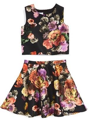 Pippa & Julie 'Meet & Greet' Floral Print Top & Skirt Set $68 thestylecure.com