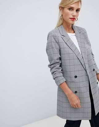 Vila Check Oversized Blazer
