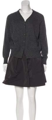 Hache Long Sleeve Knee-Length Dress