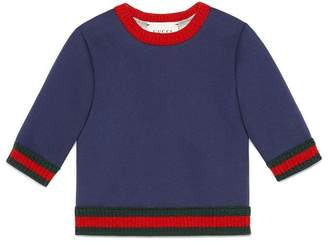 Gucci Kids Web detail sweatshirt