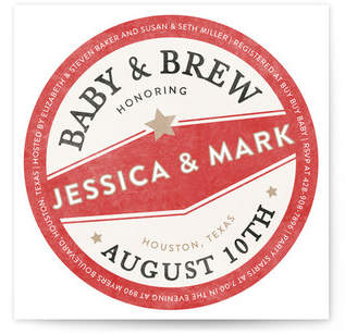 Vintage Coaster Baby Shower Invitations