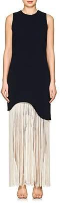 Nomia Women's Fringed-Hem Crepe Sleeveless Dress