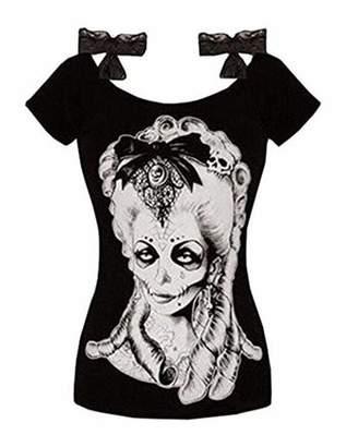 Lovaru Plus Size Punk Style Women Print T-shirt