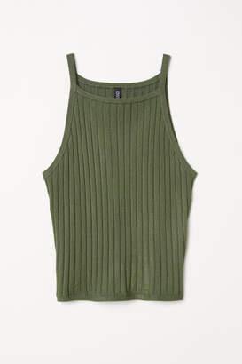 H&M Ribbed Tank Top - Green