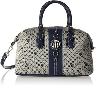Tommy Hilfiger Bags for Women, Jaden Handbag Convertible Top Handle Bag, TOMMY NAVY PVC