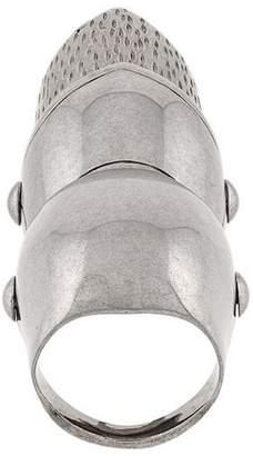 Balenciaga goth gargoyle articulated ring