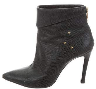 Jerome Dreyfuss Embossed Leather Ankle Boots