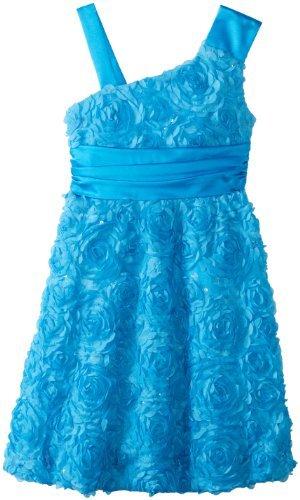 Rare Editions Big Girls' Floral Soutached Dress