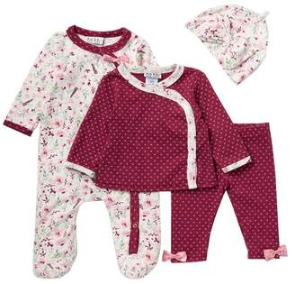 Nicole Miller Footie, Jacket, Legging & Beanie Set (Baby Girls)