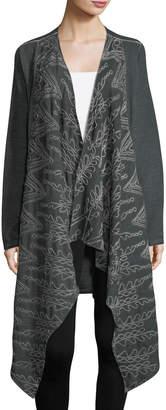 XCVI Averi Embroidered Drape-Front Coat