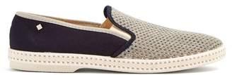 Rivieras Tour Du Monde Slip On Canvas Loafers - Mens - Grey Multi