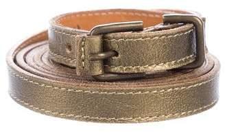 Dries Van Noten Wrap-Around Metallic Belt