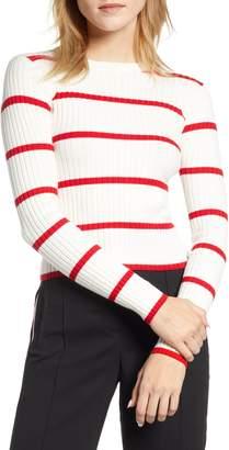 Bishop + Young Serena Stripe Ribbed Crop Sweater