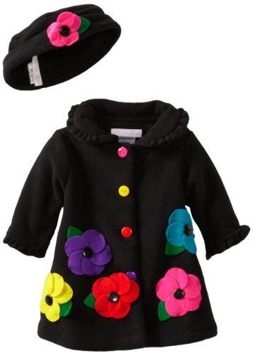 Bonnie Baby girls Newborn Fleece Coat...