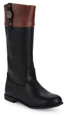 Tommy Hilfiger Little Girl's & Girl's Andrea Nameplate Mid-Calf Boots