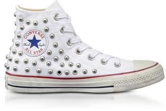Converse Limited Edition Chuck Taylor All Star High White Studded Canvas Sneakers